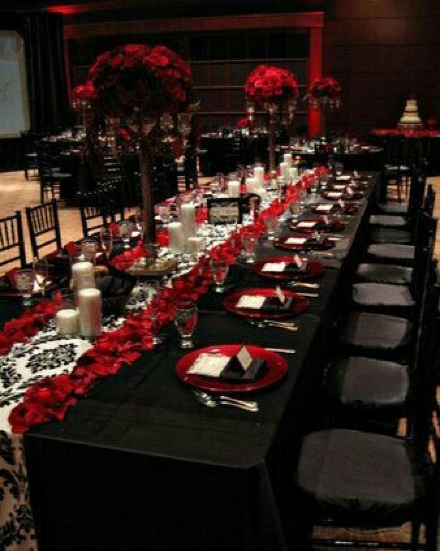 Свадьба в красно черном цвете фото