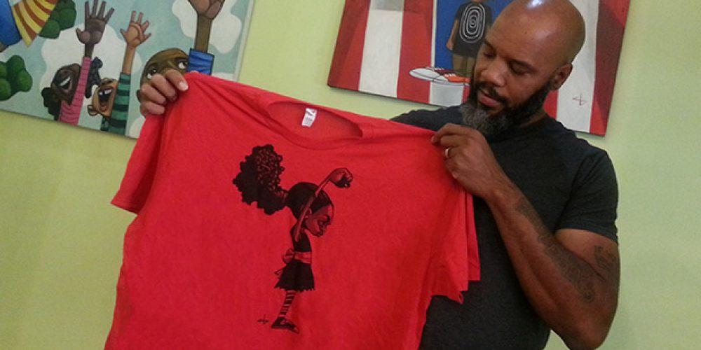 Cbabi Art Sells on T-Shirt
