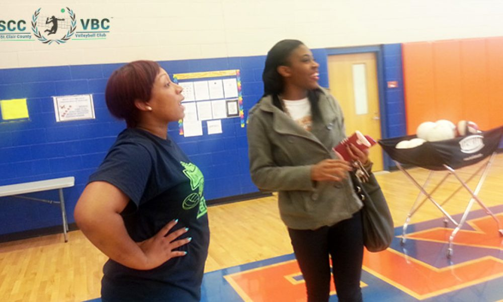 College Scout Visits Black Girls Volleyball Club